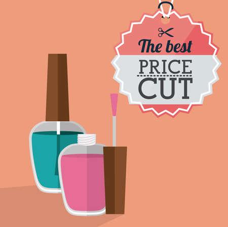Make up design over pink background,vector illustration.