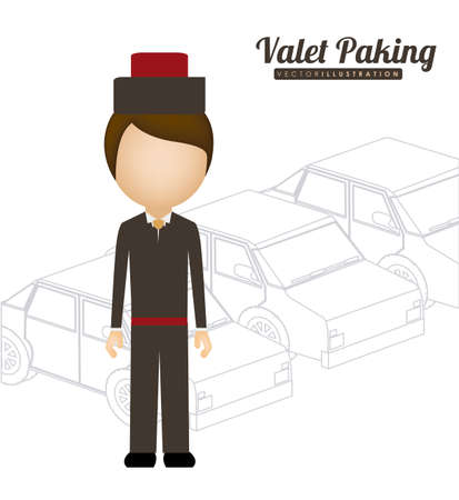 valet: hotel, service desing over white background, vector illustration Illustration
