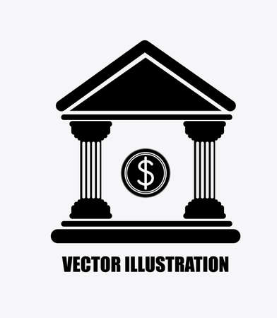 time account: bank, desing over white background, vector illustration.