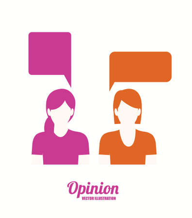 opinion desing over white background vector illustration.