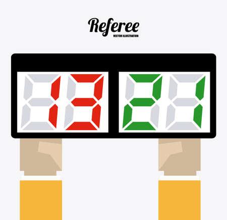 substitution: referee desing over white background vector illustration. Illustration