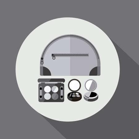 desing: make up desing over  blsck white background, vector illustration