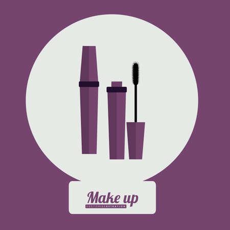 desing: make up desing over purple background, vector illustration Illustration