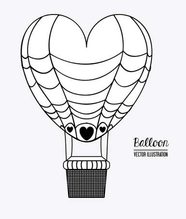 ballooning: air balloon desing over, colors, background, vector illustration.