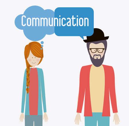 communicate, talk, desing over, white background, vector illustration