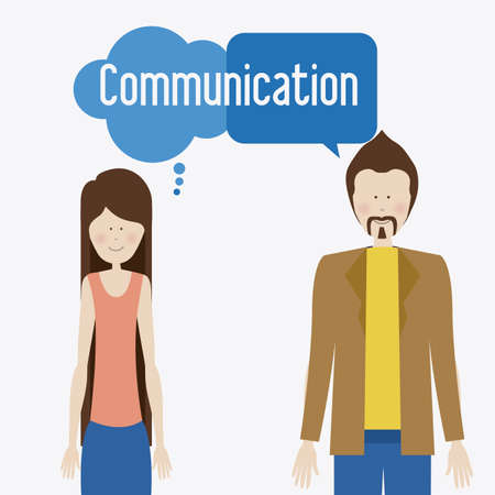 clound: communicate, talk, desing over, white background, vector illustration