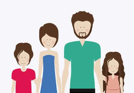 Familiy, desing over white background, vector illustration.