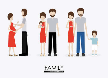 father of the bride: Familiy, desing over white background, vector illustration.