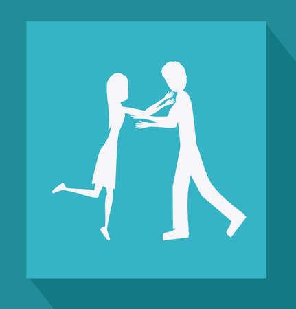 familiy: Familiy, desing over blue background, vector illustration.