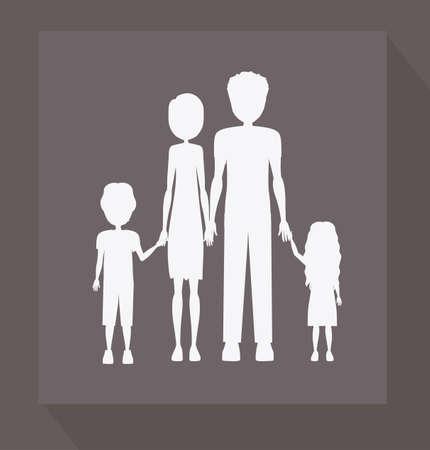 familiy: Familiy, desing over purpple background, vector illustration. Illustration