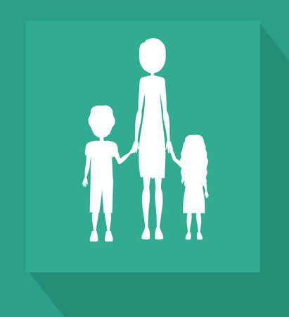 Familiy, desing over blue background, vector illustration.