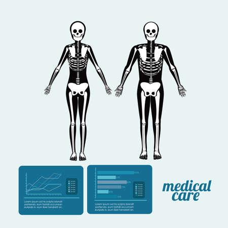 viscera: body,healthy desing over, ligth blue background, vector illustration. Illustration