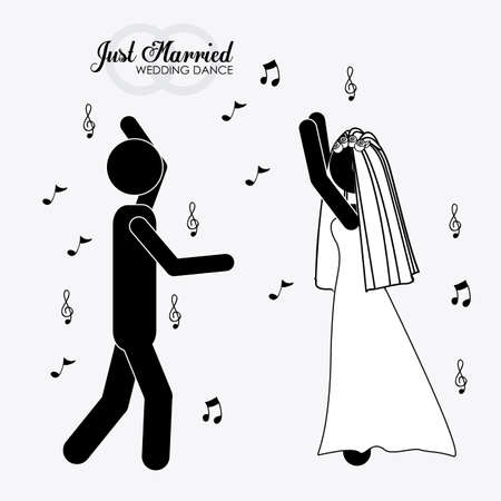 married, couple, desing white background, vector illustration. Vector