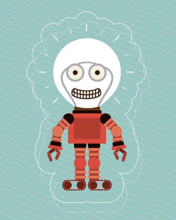 boy, toys, desing over white background, vector illustration. Vector