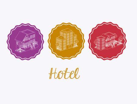 haversack: hotel, service desing over white background, vector illustration Illustration