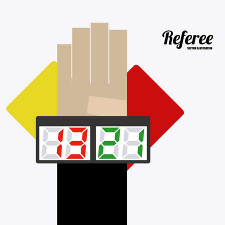 moderator: referee desing over white background vector illustration. Illustration
