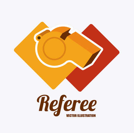 sanction: referee desing over white background vector illustration. Illustration