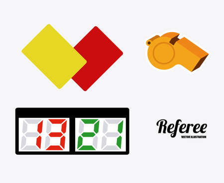 referee desing over white background vector illustration. Vector