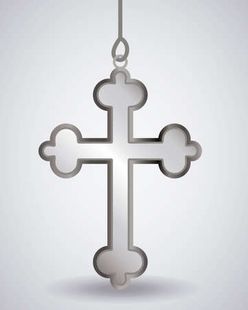 catholicism: christianity design over white background, vector illustration. Illustration