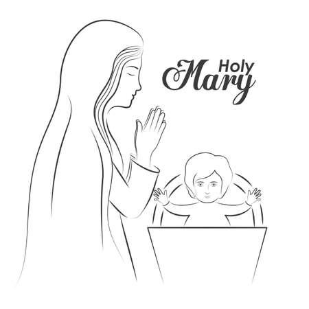 christianity: christianity design over white background, vector illustration. Illustration