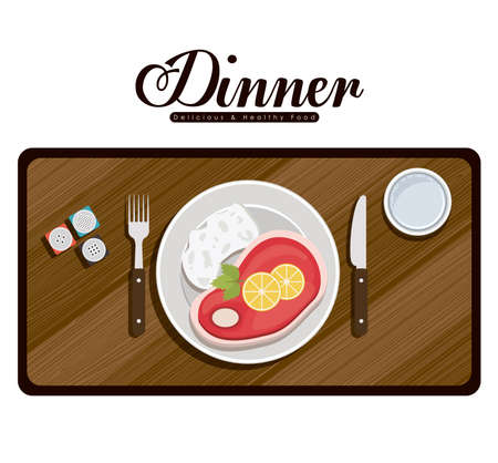 Menü und Food-Design, Vektor-Illustration Standard-Bild - 37446642