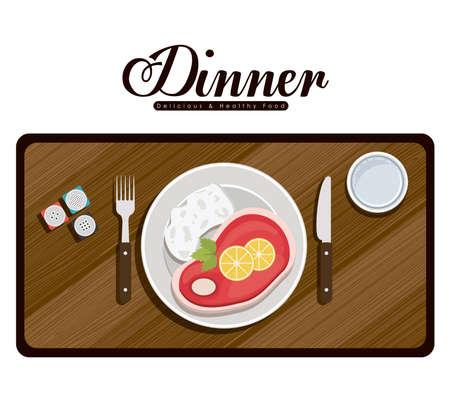 Menü und Food-Design, Vektor-Illustration