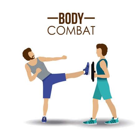 combat sport: Body combat sport design, vector illustration. Illustration