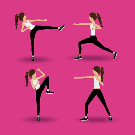 Body combat sport design, vector illustration. Vector Illustration