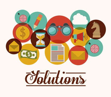 Solutions design, vector illustration