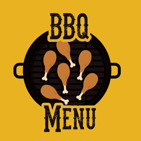 barbecued: barbecue design, vector illustration