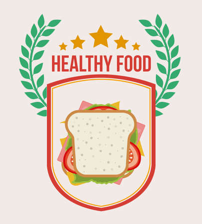 Healthy lifestyle, vector illustration Illustration