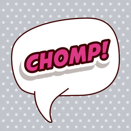 chomp: Pop art design, vector illustration