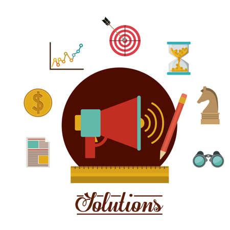 solution: Solution icon, vector illustration