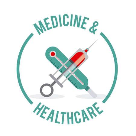 Medical care design, vector illustration