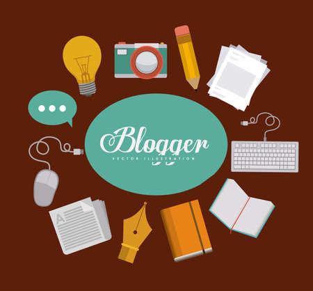 blogger: Blogger design, vector illustration Illustration