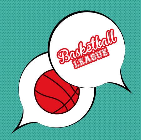 bacground: basketball desing over blue  texture bacground vector illustration. Illustration