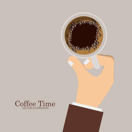backgrund: lunch time desing over, ligth brown backgrund, vector illustration.