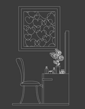 plactic: furniture design over gray background, vector illustration