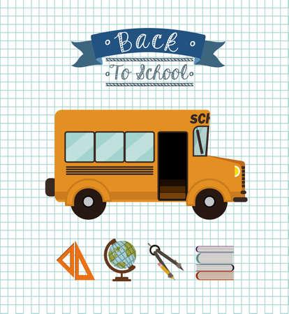 school bus: school desing over white background vector illustration. Illustration