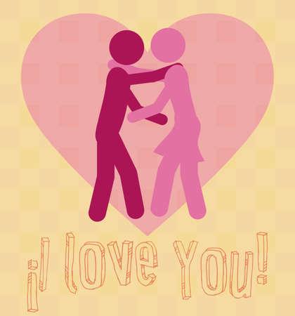 serenade: Love design over pink vector illustration.