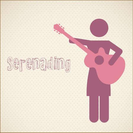 serenade: Serenading vector illustration