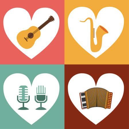 interpreter: Music, vector illustration