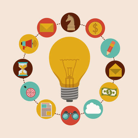 Solution icon, vector illustration