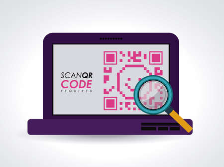 price development: Scan QR Code design, vector illustration Illustration