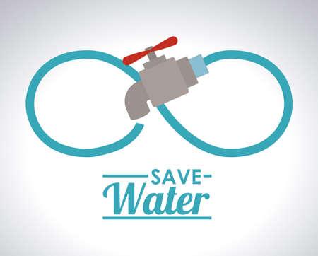 ahorrar agua: Guardar Dise�o Agua, ilustraci�n vectorial