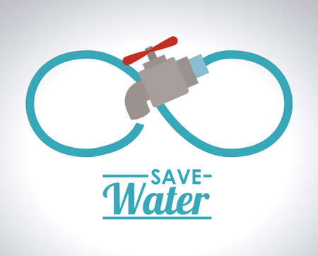 clean water: Save Water design, vector illustration Illustration