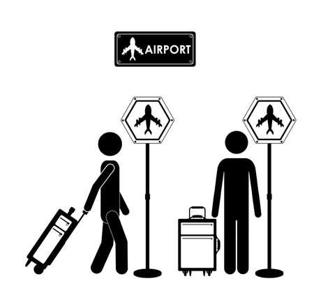 lugagge: Travel icon design, vector illustration over white background Illustration