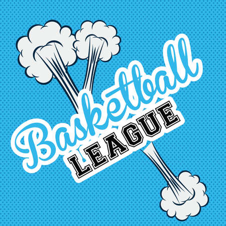 preassure: basketball desing over blue bacground vector illustration.