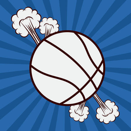 preassure: basketball desing over blue texture  bacground vector illustration.