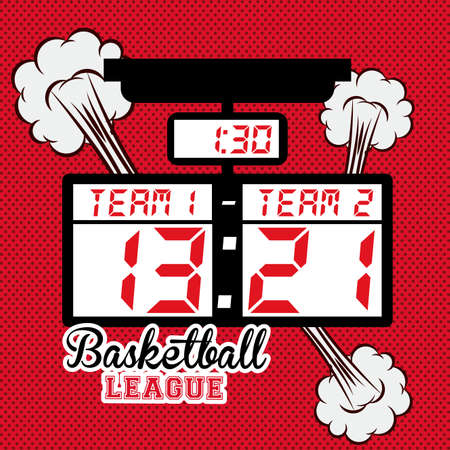 preassure: basketball desing over red texture bacground vector illustration. Illustration